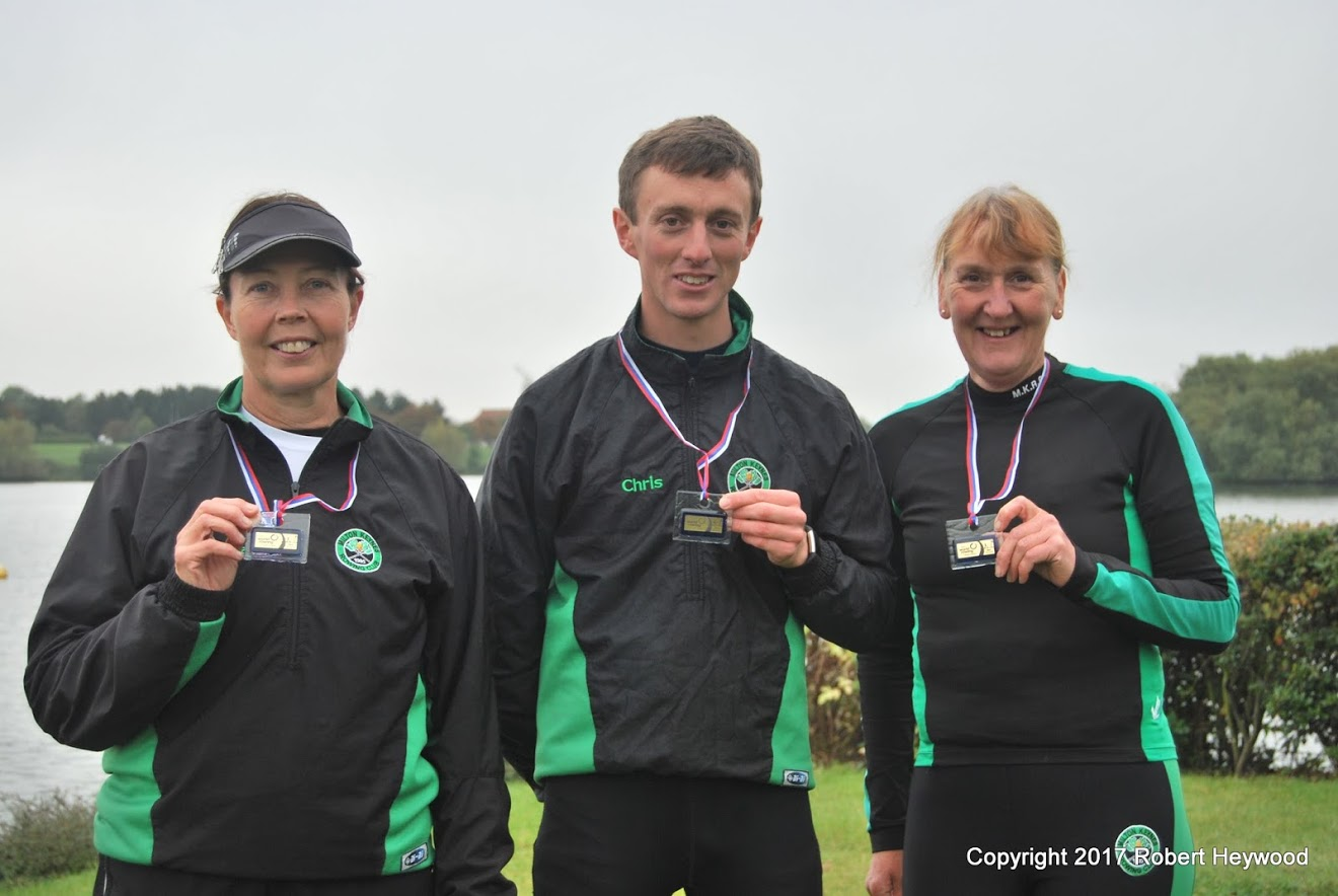 Paula, Karen and Chris with WRMR2017 Medals